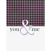 Elegant Autumn You & Me Journal Card 3x4
