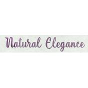 Elegant Autumn Natural Elegance Word Art