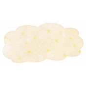 Baby Shower Starry Cloud Watercolor