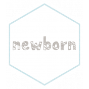 Baby Shower Newborn Light Blue Hexagon Tag