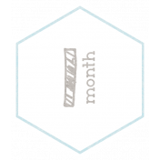 Baby Shower 1 Month Light Blue Hexagon Tag