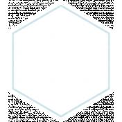 Baby Shower Blank Light Blue Hexagon Tag