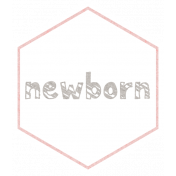 Baby Shower Newborn Pink Hexagon Tag
