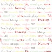 Baby Shower Words Paper- Girl