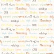 Baby Shower Words Paper