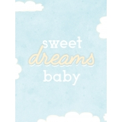 Baby Shower Sweet Dreams Journal Card 3x4