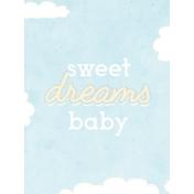 Baby Shower Sweet Dreams Journal Card 3x4