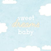 Baby Shower Sweet Dreams Journal Card 4x4