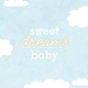 Baby Shower Sweet Dreams Journal Card 4x4