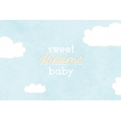 Baby Shower Sweet Dreams Journal Card 4x6