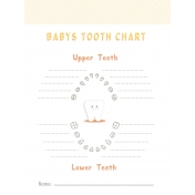 Baby Shower Tooth Chart Journal Card 3x4