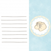 Baby Shower Blue Baby Booties Journal Card 4x4