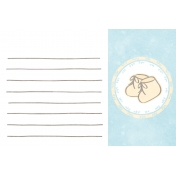 Baby Shower Blue Baby Booties Journal Card 4x6