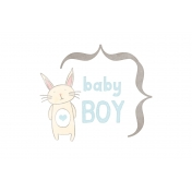 Baby Shower Baby Boy Bunny Journal Card 4x6