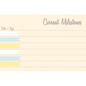 Baby Shower Yellow & Blue Milestones Journal Card 4x6