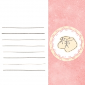 Baby Shower Pink Baby Booties Journal Card 4x4