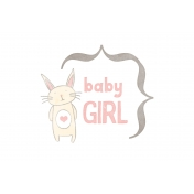 Baby Shower Baby Girl Bunny Journal Card 4x6
