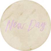 New Day Round Label New Day