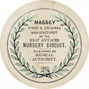 New Day Baby Nursery Biscuit Old Round Label