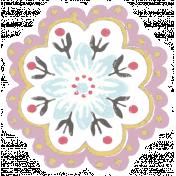 Sunshine and Snow Flower Sticker