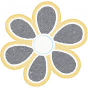 Sunshine and Snow Gray Flower Sticker
