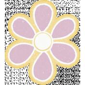 Sunshine and Snow Lavender Flower Sticker