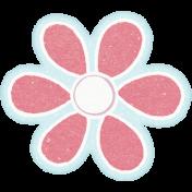 Sunshine and Snow Red Flower Sticker