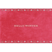 Sunshine and Snow Hello Winter JC 4x6