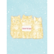 Sunshine and Snow Kittens Journal Card 3x4