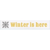 Sunshine and Snow Winter is Here Word Art