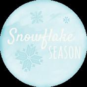 Sunshine and Snow Mini Snowflake Season Label
