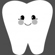 Baby Shower Tooth Template