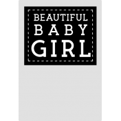 Baby Shower Girl Clothing Tag Template