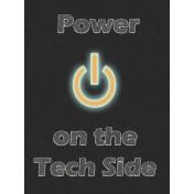 Digital Day Power On Journal Card 3x4