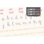 Digital Day Code Journal Card 4x6