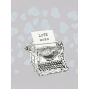 Love Knows- Typewriter Journal Card 3x4