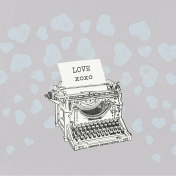 Love Knows- Typewriter Journal Card 4x4