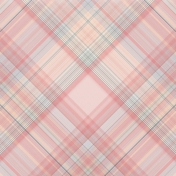 Love Knows Pink Plaid Paper