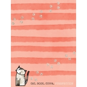 A Mug and A Book - Cat. Book. Cuppa. Purrfection Journal Card 3x4