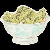 May Good Life- Luncheon Salad Bowl Sticker