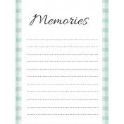 May Good Life- Memories Journal Card 3x4