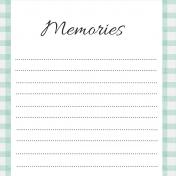 May Good Life- Memories Journal Card 4x4