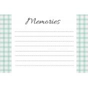 May Good Life- Memories Journal Card 4x6
