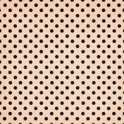 May Good Life- Luncheon Peach Hexagon Dot Paper