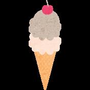 June Good Life- Summer Chocolate Ice Cream Cone