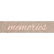 June Good Life- Summer Memories Word Art