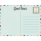 June Good Life- Summer Postcard Journal Card 3x4
