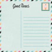 June Good Life- Summer Postcard Journal Card 4x4