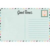 June Good Life- Summer Postcard Journal Card 4x6