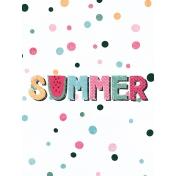 June Good Life- Summer Journal Card 3x4